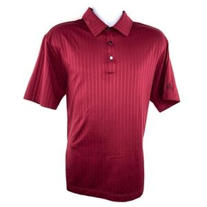 Nike Golf Mens Polo Shirt Maroon Mercedes-Benz